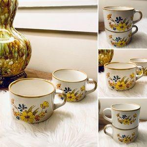 🦋2/$10 3/$15 4/$18 5/$20 Vintage Stoneware Soup Mugs